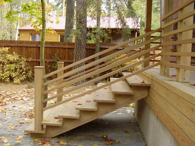 Лестница к дому наружная фото