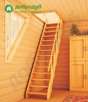 Прямая лестница на второй этаж ДоброДуб PineWood PL-11
