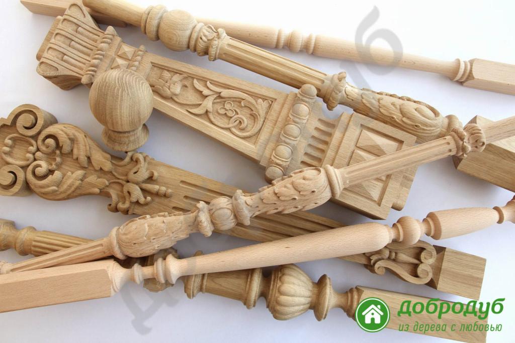Комплектующие для лестниц из дерева
