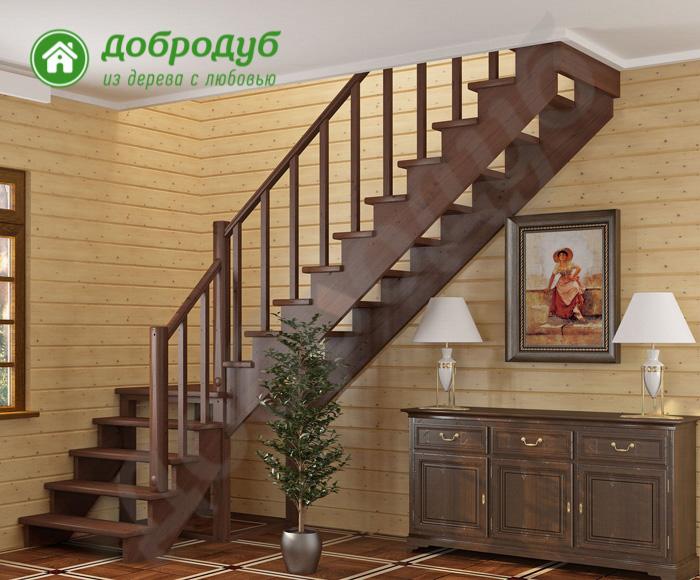 Г-образная лестница из дерева цена в Санкт-Петербурге и характеристики ArishWood GL-42