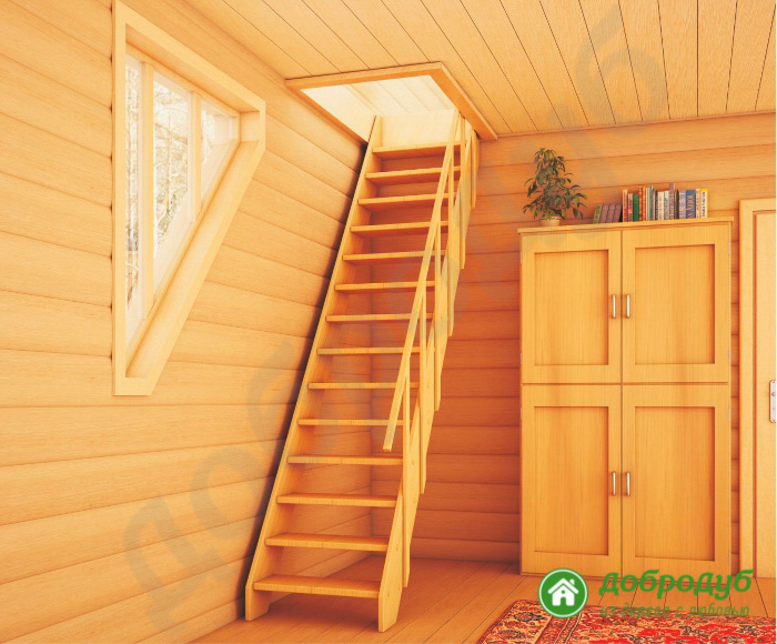 Лестница из дерева в Санкт-Петербурге цена характеристика прямая