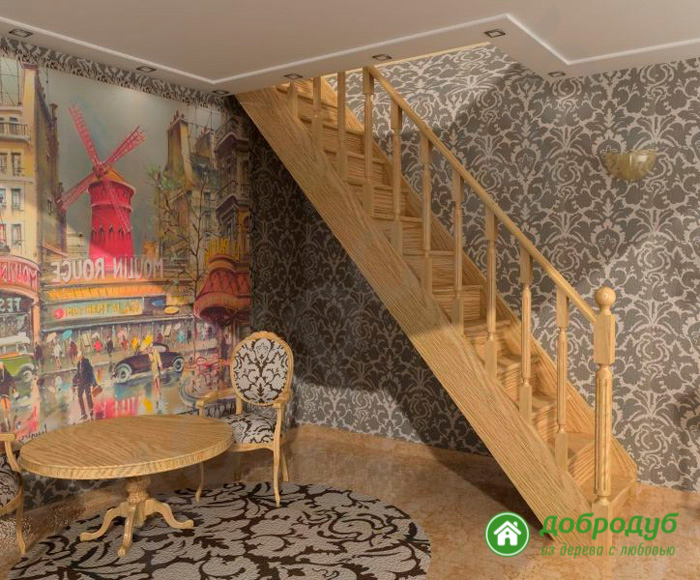 Лестница из дерева в Санкт-Петербурге цена характеристики прямая