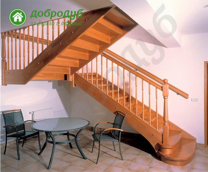 П-образная лестница из дерева в Санкт-Петербурге цена и характеристики HappyWood POL-63