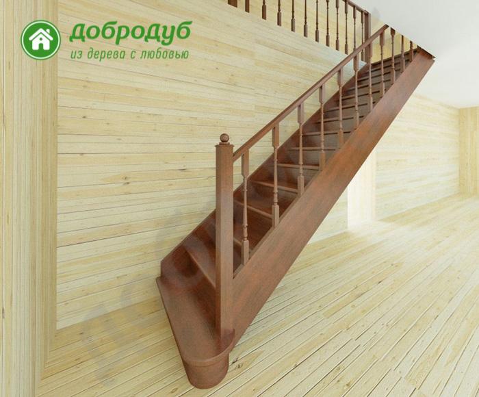 Прямая лестница из дерева в Санкт-Петербурге цена и характеристики ArishWood PL-41