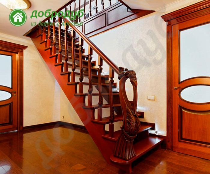 Прямая лестница из дерева в Санкт-Петербурге цена и характеристики NutWood PL-81
