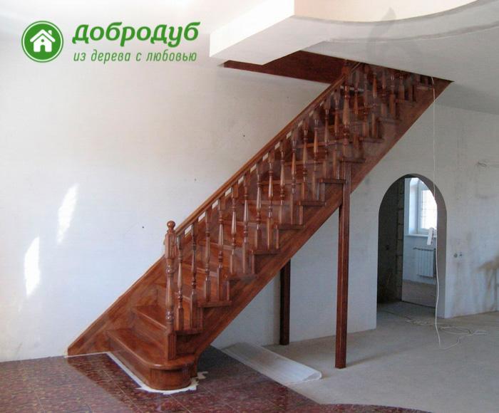 Прямая лестница из дерева в Санкт-Петербурге цена и характеристики HappyWood PL-61