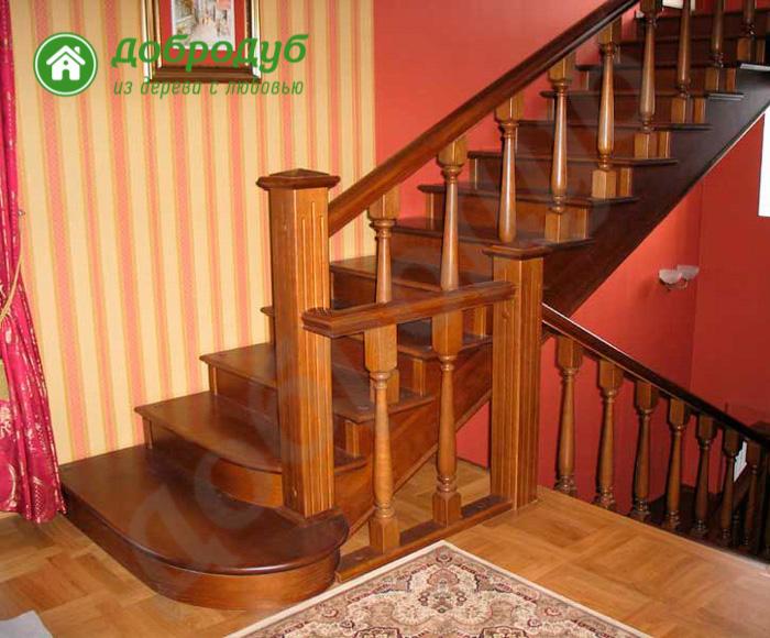 Прямая лестница из дерева в Санкт-Петербурге цена и характеристики HappyWood PL-71
