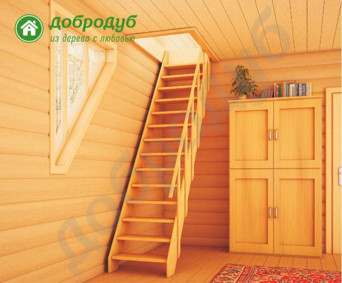 Прямая лестница из дерева цена и характеристики PineWood PL-11
