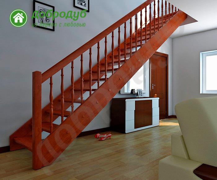 Прямая лестница из дерева цена и характеристики PineWood PL-21