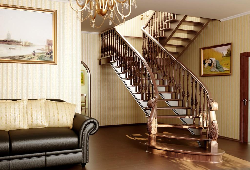 асчитать лестницу на второй этаж