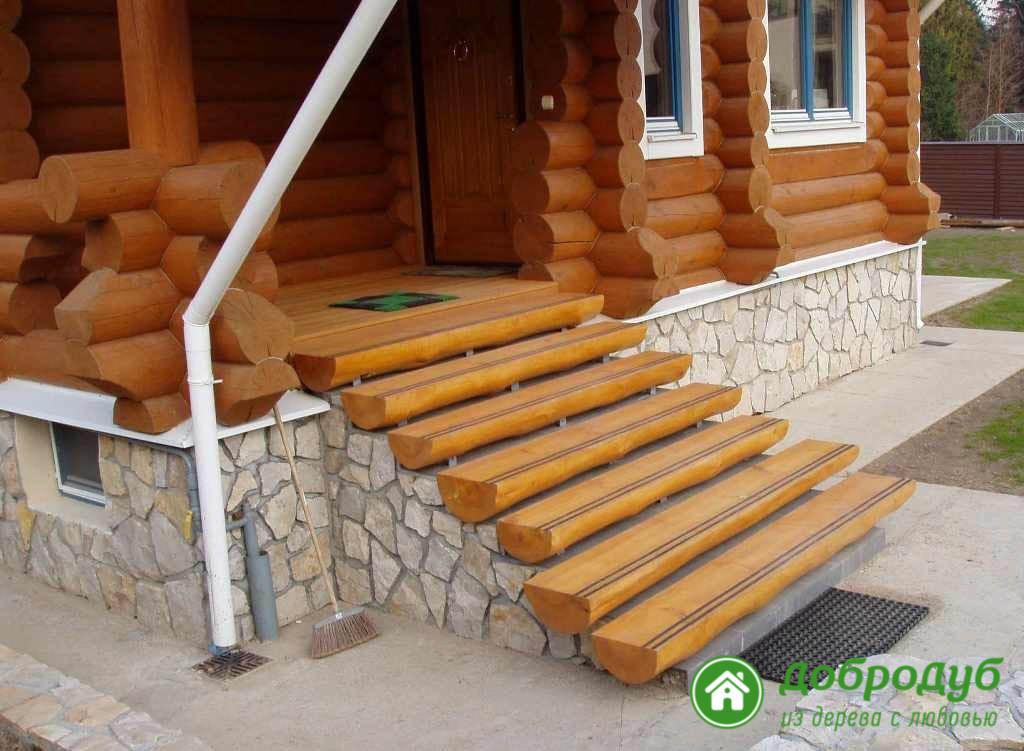 аружные лестницы из дерева