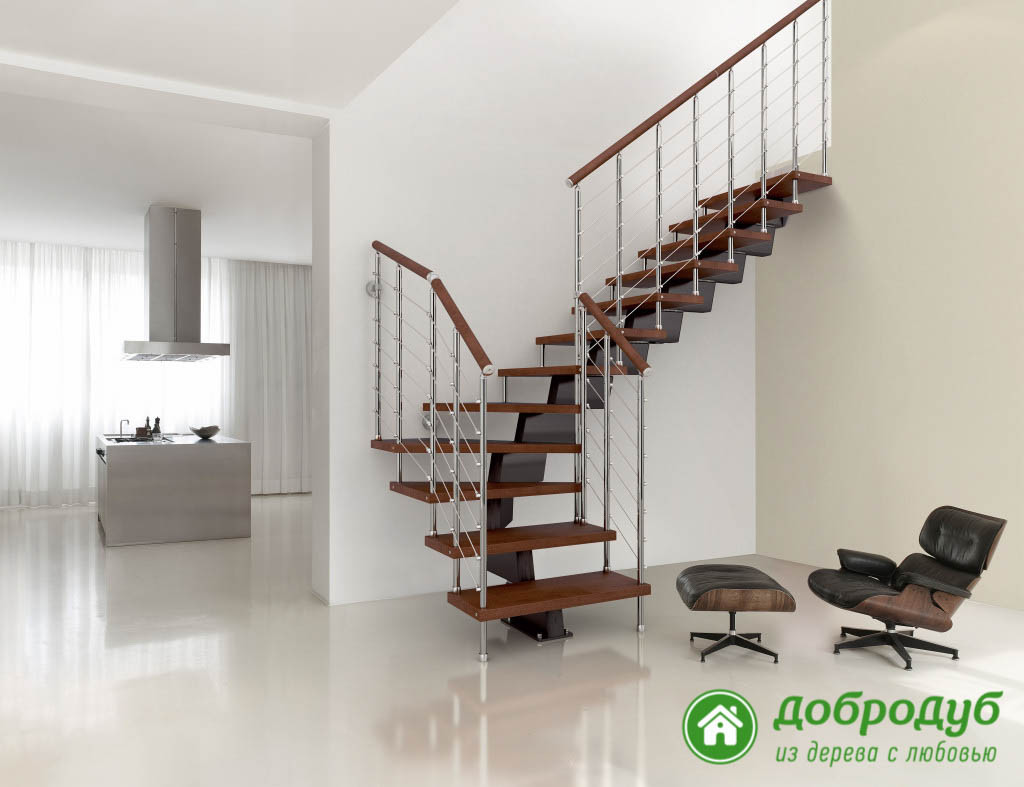 Модульные лестницы на больцах
