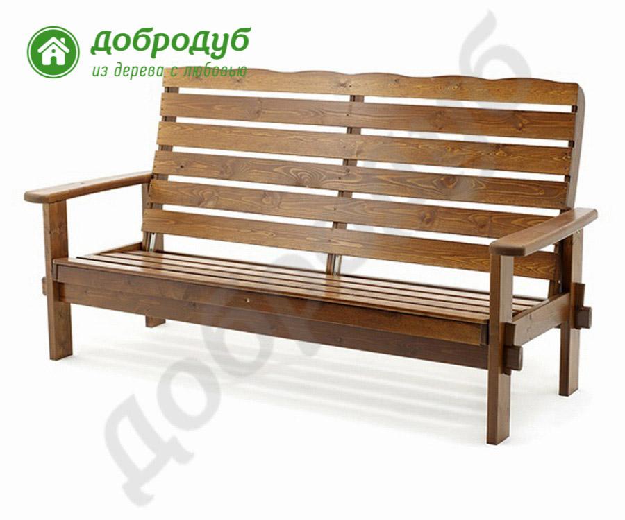 Скамейка из массива дерева цена Ла-Круа